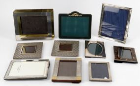 Modern photograph frames to include two small .800 frames