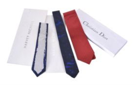 Christian Dior, a red silk tie