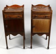 Y A pair of mahogany bedside tables