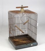 An early 20th century large bird cage