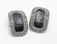 A pair of late 19th century cut steel shoe buckles
