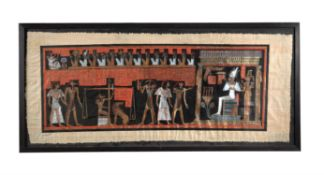 Two modern Egyptian papyrus pictures