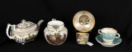 Early 19th century ceramics including a Bloor Derby jug