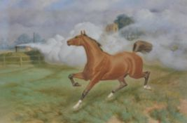 Basil Nightingale (British 1864-1940), Horse affrighted