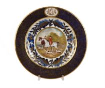 A Derby hunting plate