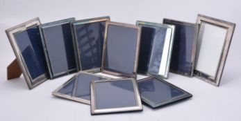 A collection of electro-plated photo frames