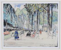 λ Emmanuel Charles-Louis Benezit (French 1887-1975), 'Vichy 1920' park view and another