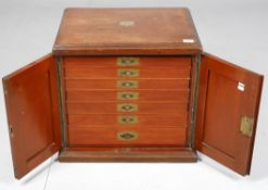 A Victorian mahogany table top collector's cabinet