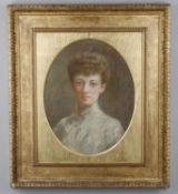 Late 19th century English School, Portrait of a woman