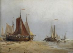 In the manner of Edwin Hayes RHA, Fishing boats, Holland