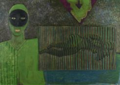 λ Gerard Dillon (Irish 1916-1971), Masked figure and nude