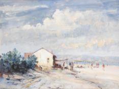 λ Edward Seago (British 1910-1974), The Beach at Torremolinos, Spain
