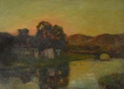 Julius Olsson (British 1864-1942), The Setting Sun, Antrim, Northern Ireland