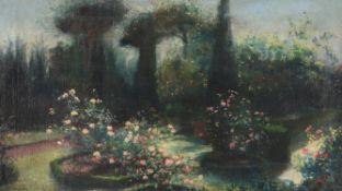 Tom Mostyn (British 1864-1930), Garden in full bloom