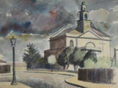 λ Elwin Hawthorne (British 1905-1954), St. Mary's Church, Wanstead