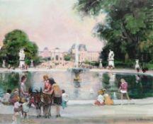 λ Jules René Hervé (French 1887-1981), Tuileries Garden, Paris