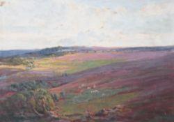 Henry William Phelan Gibb (British 1870-1948), Landscape with sheep