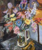 λ Katherine Church (British 1910-1999), Summer Flowers in a Staffordshire Jug