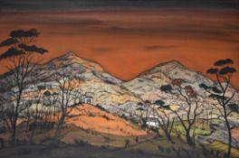 λ Fred Uhlman (British 1901–1985), Welsh Landscape - Croesor Valley