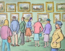 λ Gladys Maccabe (Irish 1918-2018), Gallery visitors
