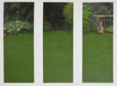 λ Margaret Green (British 1925-2003), Garden Triptych