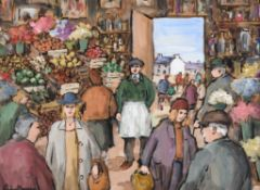 λ Gladys Maccabe (Irish 1918-2018), At the market