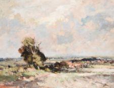 λ Edward Seago (British 1910-1974), Landscape near Martham, Norfolk