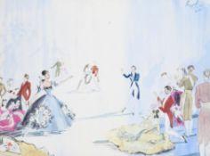 """λ Cecil Beaton (British 1904-1980), Ballroom Scene from """"Apparations"""""""