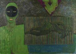 λ Gerard Dillon (Irish 1916-1971), Masked figure and nude