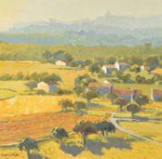 λ Alan Cotton (British b. 1936), Provence - Cottages below Bonnieux