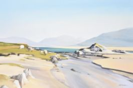 λ Alastair W. Thomson (Scottish b. 1929), Sheep on the Shore, Luskentyre, Isle of Harris