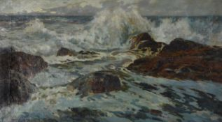 Julius Olsson (British 1864-1942), The fringe of foam
