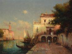 λ Noel Georges Bouvard (French 1912-1975), Venetian view
