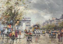 λ Antoine Blanchard (French 1910-1988), Arc de Triomphe, Champs Elysees, Paris