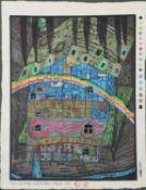 λ Friedensreich Hundertwasser (Austrian 1928-2000), Fluss unter Dach (Koschatzky no. 86)