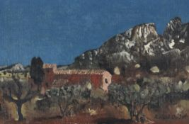 λ Roland Oudot (French 1897-1981), Paysage d'Arizona