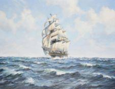 λ Roland Davies (British 1904-1993), Tea clipper at sea