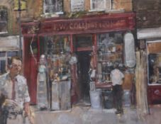 λ Tom Coates (British b. 1941), Outside the hardware store
