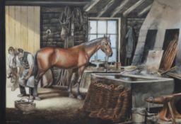 λ Ronald Embleton (British 1930-1988), The Smithy; together with another sketch (2)