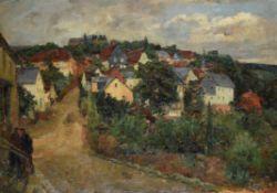 Johann Marx (German 1866-1933), A view at Neuweilnau