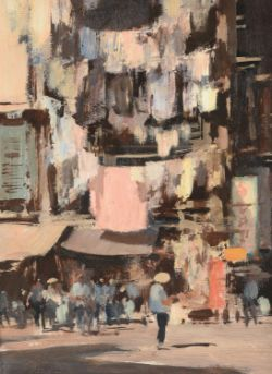 λ Edward Seago (British 1910-1974), Street in Hong Kong