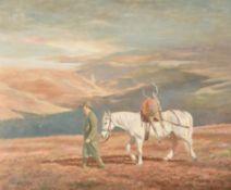 λ Madeline Selfe (British 1905-2005), Deer hunter returning