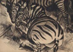 λ Dame Laura Knight (British 1877-1970), Zebras