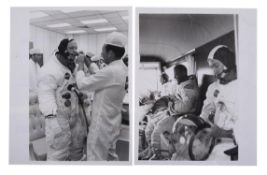 Crew training and preparations for the first manned lunar landing, Apollo 11, July 1969