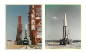Apollo Saturn test flights: SA-4, SA-8 & SA-500F on the pad, mission control, Apr 1962-Jul 1966