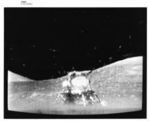 The last departure of humans from the Moon as captured by a TV camera, Apollo 17, December 1972