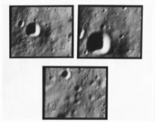 Last three views of the lunar surface taken before the impact on the Moon, Ranger 9, March 1965