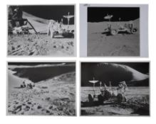 Four lunar landscapes with the Lunar Rover, Apollo 15, July-August 1971