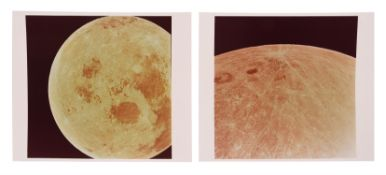 Views of the receding Moon after transearth injection, Apollo 11, July 1969