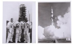Portrait of the crew, pre-flight activities and the launch of Apollo 7, October 1968
